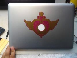 Crisis Moon Compact Macbook Pro Decal by eracadenza