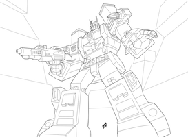 TF - Ultra Magnus - Line Art by Mono-Phos