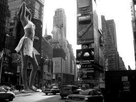 Adriana in Times Square by Accasbel