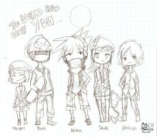 The World Ends with You Chibis by MiyomotheCat