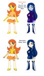 Golden Heart and Silverly Soul Equestria Girls by HeroineMarielys