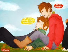 1D: Leaf Me Alone by spiderweb-heart