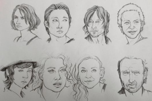 TWD character sketches by jenimal