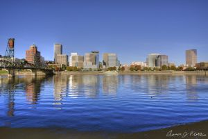 Portland Skyline HDR 1 by photoboy1002001