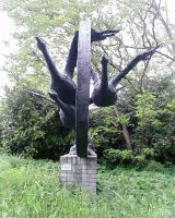 geese statue 1 by priesteres-stock