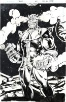Thanos by J Stone fin inks touch ups by SurfTiki