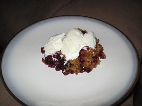 Berry Crisp with Ice Cream by MegMcMuffin