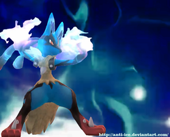 Mega Lucario Aura by Anti-Ice