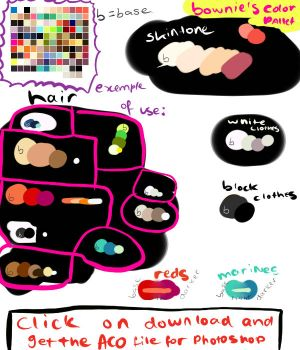 My color pallete for download by Captain-Bownie