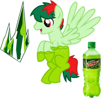 Mountain Dew Soda Pony by equinepalette