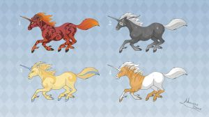 Adoptables: Unicorns 3 by MySweetQueen