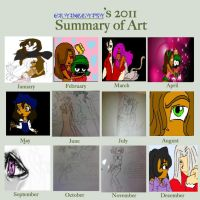 2011 Art Sum by CryingGypsy
