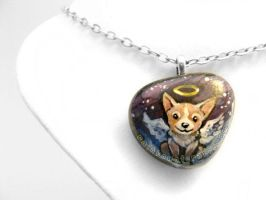 Corgi Pendant Necklace / Sold by sobeyondthis