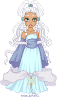 Princess Yue the Moon Spirit by porcelian-doll