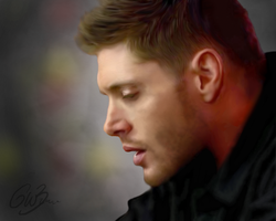 Dean Winchester - digital painting by Castielogically