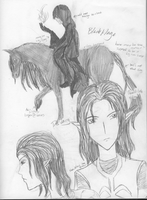Dsvarg and Black/Dark Mage Sketches by RobotsWithCookies