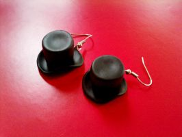 Top Hat Earrings by Christine-E