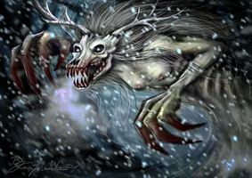 January:  The Wendigo by pyro-helfier