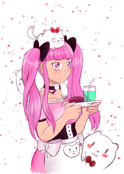 Pink maid request by FgtMgt