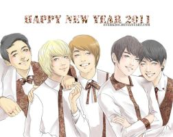 Happy New SHINee Year 2011 by EverKiss