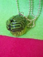 zombie brain cupcake necklace by kawaiibuddies