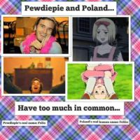 Pewdiepie and Poland Comparison by MakiLoveCrysis