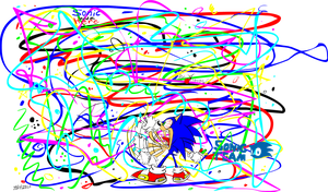 Sonic coloring by Rovertarthead