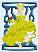 Cinderella as Belle - Colored by whysp80
