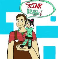 Ralph-and-Vanellope by Zerogear23