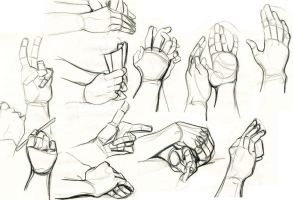 Hand Sketches by Dil3mma