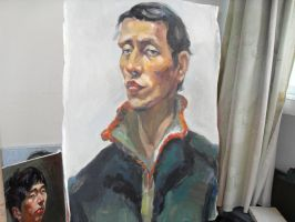 3 hours oil painting 19 by curryQ