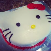 Hello Kitty Fondant Cake by Claycupcakes4
