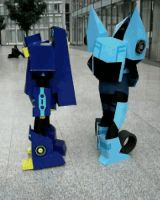 -Animated Soundwave and Blurr- by Rumblebee88