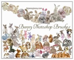 Bunny Photoshop Brushes For Easter by ibjennyjenny