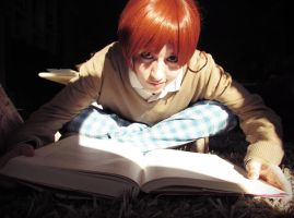 A big book (Italy, Axis Powers Hetalia, Gakuen) 04 by Doriri-chan
