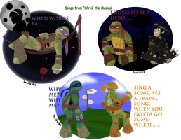 TMNT - Shrek songs inspration by Doodlz18