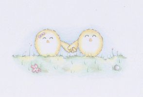 Easter card collection (4/5) Holding Hands by PhoenixArtwork