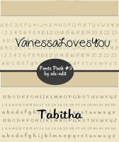 Fonts Pack #2|Photoshop| by alx-edit