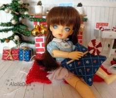 In my miniature house is already Christmas time . by alaila1