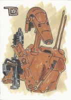 Battle Droid Sketchcard by TolZsolt