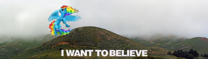 I Want to Believe banner by hyenawoman