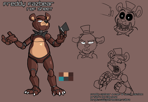FNAF - Freddy Fazbear: Ref Sheet by Kayla-Na