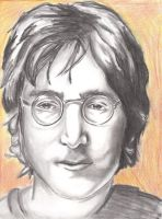 John Lennon by endless-hallway