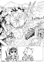 Beatriz Overseer page 1 pencils by chochi