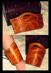 octopus leather cuff by Darya87