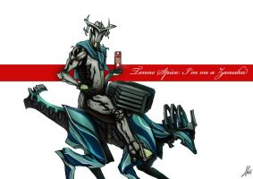 Warframe - I'm on a Zanuka by RedSkittlez-DA