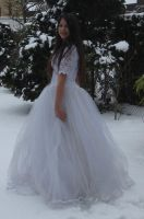 White dress in Snow Stock 6 by NaomiFan