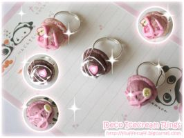Deco Icecream Rings by Fluffntuff
