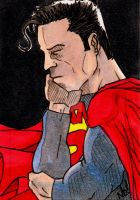 All Star Superman sketch card by nathanobrien