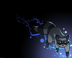 Raccoon Wallpaper by RiverNinj4